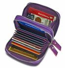 Women'S Genuine Leather Rfid Secured Spacious Cute Zipper Card Wallet Small Purs