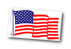 "USA Flag | White Outdoor Vinyl | 8"" x 4.50"" 