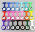 Silicone Nurse Watch Cover Brooch Fob Pocket Tunic Quartz Movement Fob Case