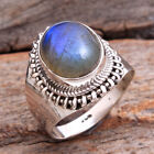 Superb handmade Ring Labradorite cab 925 Sterling silver Jewelry Size us 7.25