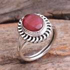 Handmade Faceted Kashmir Ruby 925 Sterling Jewelry Silver Ring Size us 6.75