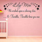 Wall Art Sticker Quote Personalised Girls Name Newborn Nursery Decals Home Decor