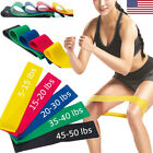 Elastic Resistance Loop Bands Exercise Crossfit Yoga Fitness Gym Training lot US image