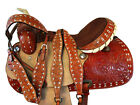 WESTERN COWBOY SADDLE BARREL TRAIL 15 16 PLEASURE SHOW BUCK STITCH STUD LEATHER