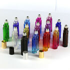 Gradient Empty Glass Roll on Stainless steel Roller Ball Essential Oil Bottles
