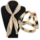 CO_ JZ_ Fashion Rose Gold Plated Trio Scarf Ring Silk Scarf Buckle Clip Slide Je
