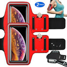 2 Pack ArmBand Case Sports Running Jogging Gym Arm Band Bag Cell Phone Holster