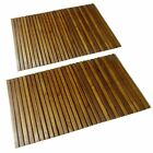 Hardwood Bathroom Shower Anti Rubber Slip Mat Spa Sauna Rugs Indoor Mat