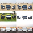 4 X Outdoor Rattan Wicker Outdoor Garden Set Patio Conservatory Table And Chairs