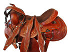 16 17 BARREL RACING PLEASURE TRAIL COWBOY SHOW RODEO HORSE USED WESTERN SADDLE