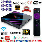 H96 MAX Smart TV BOX Android 9.0 OS 4G RAM 32/64GB Quad Core 1080p 4K LED A4L3B