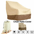 Garden Patio Waterproof Furniture Chair Cover Single For Outdoor Deck Lawn Khaki