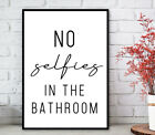 Bathroom Prints Minimalist Wall Funny Art Poster. Quality Toilet Home Pictures