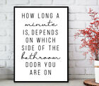 Bathroom Prints Minimalist Wall Funny Art Poster. Quality Toilet Home Pictures <br/> ✔️ BUY 2 GET 1 FREE  ✔️ FAST & FREE 1ST P&P  ✔️ QUALITY
