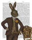 ART-PRINT-IMAGE-Animals-&-Nature-Dapper-Hare-Picture-Poster-Fine-art-on-Paper-or