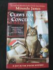 Claws For Concern Cat in the Stacks Mystery #9 by Miranda James (2019, Paperback