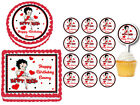 Betty Boop Edible Birthday Party Decoration Cake Topper Plastic Cupcake Pick $8.0 USD on eBay