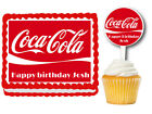 Coca-Cola Edible Birthday Party Cake Topper Plastic Cupcake Picks $19.77  on eBay