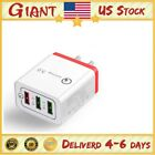 3 Port QC 3.0 Fast Quick USB Charger Hub Wall Charger Power Adapter US Plug