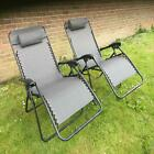 Uk-gardens Oversized Garden Sun Lounger Recliner Chairs Single Or Set Of 2