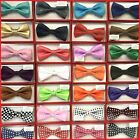 40+ Colors Clip on Adjustable Tuxedo Bow Tie for Toddler Baby Kids Boys Girls
