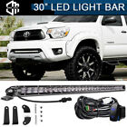 """150W 30"""" LED Light Bar Combo Lower Bumper + Wirings For 05-15 Toyota Tacoma"""