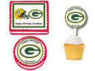 Green Bay Packers Edible Birthday Party Cake Topper Plastic Cupcake Picks $12.0 USD on eBay