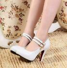 Women's Simple Shallow Mouth Single Shoes PU Word Buckle With Super High Heel