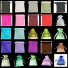 10 / 25 / 50 / 100 PCS Organza Bags Jewellery Pouches 11x16cm Various Colours UK
