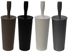 Plastic Toilet Brush & Holder Sleek & Stylish Modern Look