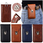 "Universal Phone 6"" Waist Bag Pouch Belt Loop Holster Leather Wallet Case Cover"
