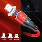 3A Magnetic Fast Charging Micro USB Type-C Data Sync Charger For iPhone Android