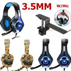 Stereo Bass Surround Gaming Headset for PS4 Slim Pro New Xbox One XPC Mic W/Hold