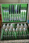 RARE SILVER PLATED forks spoons knives SET 23 Olympic 1980 Melchior SOVIET RUSSI