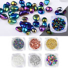 3D Nail Art Decorations Cobbles Stones Irregular Mixed Colors Nails Tools Salon