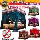 4 post functional bed canopy mosquito net Twin Queen California King+Frame Post image