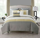 Yellow & Gray 7 Pc Geometric Bedding & Shams Comforter Set - Assorted Sizes