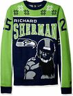 KLEW NFL Men's Seattle Seahawks Richard Sherman #25 Ugly Sweater $29.99 USD on eBay