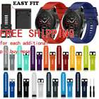 Silicone Quick Install Band Easy Fit Wrist Strap For Garmin Fenix 3 5 5X Plus AM