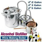 DIY Home Distiller Boiler Moonshine Still Spirit Water Alcohol Oil Brew Kit 3POT