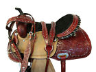15 16 BARREL RACING DEEP SEAT SADDLE TRAIL PLEASURE WESTERN HORSE FLORAL TOOLED