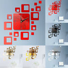 Large Wall Clock Big Watch Decal 3D Stickers Roman Numerals DIY Wall Modern #AN