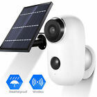 Solar Powered IP Camera Outdoor Rechargeable WiFi Night Vision PIR Motion Sensor