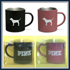 VICTORIA'S SECRET LIMITED  PINK BLACK  STAINLESS STEEL DOG COFFEE CUP MUG U Pick image