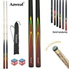 Set of 58'' Full Length WOODEN Snooker Pool Billiard Cues Stick With 9.5mm Tip $39.59 AUD on eBay