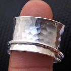 Single Band 925 Sterling Silver handmade Meditation Spinner Ring All Size US