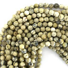 """Faceted African Opal Round Beads Gemstone 15.5"""" Strand 4mm 6mm 8mm 10mm 12mm"""