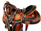 15 16 RODEO SHOW WESTERN BARREL RACING SADDLE PLEASURE HORSE TRAIL LEATHER TACK