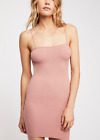 NEW Free People Intimately Square Neck Slip Dress in Pink Sz XS/S-M/L 39.73