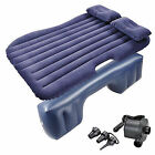 Car Inflatable Air blow up Bed Mattress Back Rear Seat& Pillows For Camping